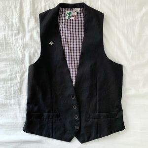 Men's LRG suit vest casual black size M lined